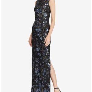 Ralph Lauren Black Mesh Sequins Gown